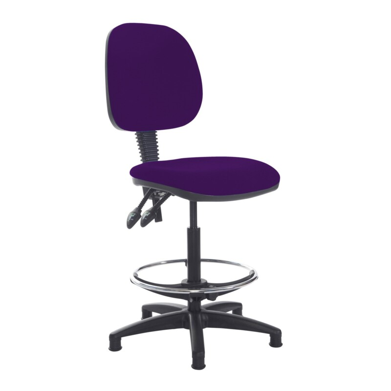Jota draughtsmans chair with no arms - Tarot Purple - Furniture