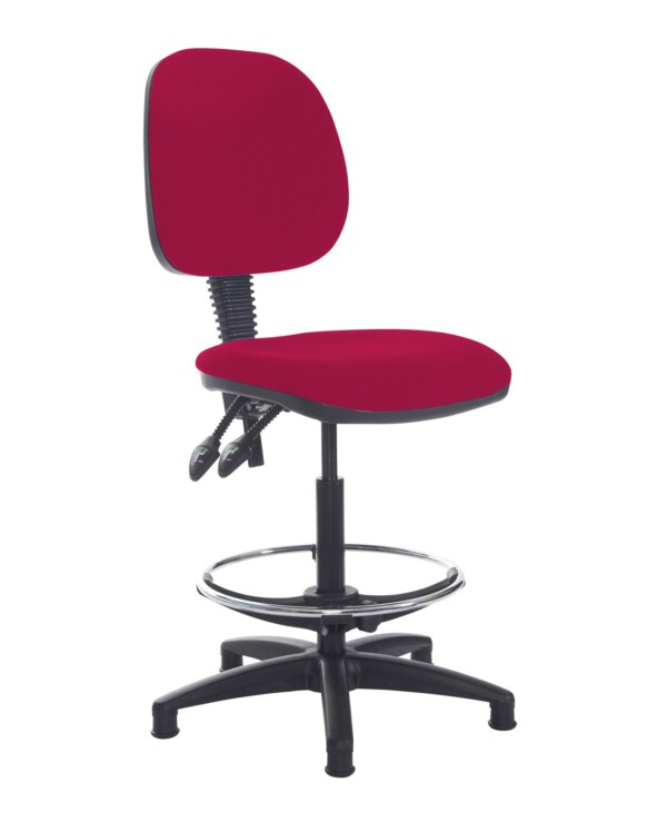 Jota draughtsmans chair with no arms - Diablo Pink - Furniture
