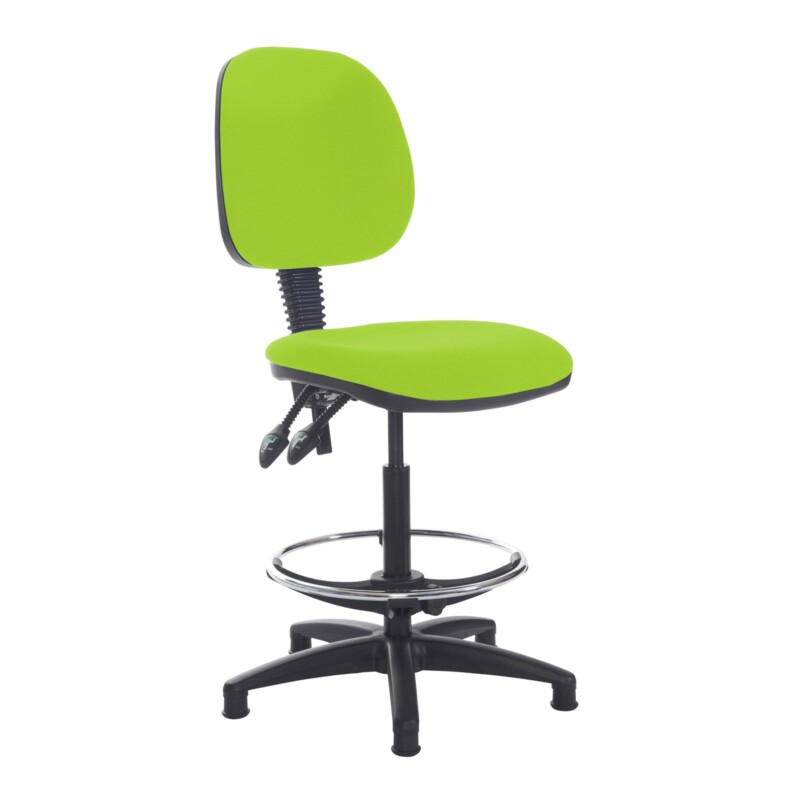 Jota draughtsmans chair with no arms - Madura Green - Furniture