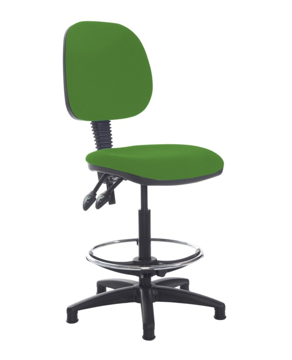 Jota draughtsmans chair with no arms - Lombok Green - Furniture