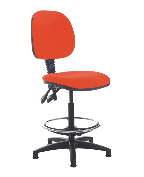 Jota draughtsmans chair with no arms - Tortuga Orange - Furniture