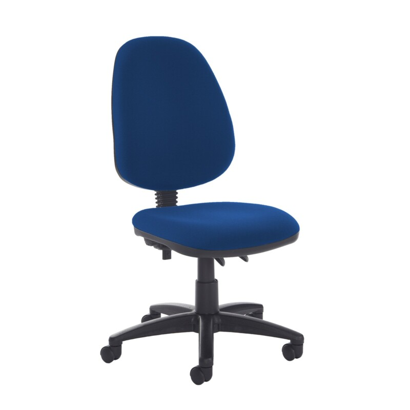 Jota high back PCB operator chair with no arms - Curacao Blue - Furniture