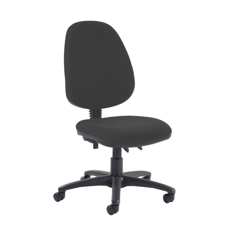 Jota high back PCB operator chair with no arms - Havana Black - Furniture
