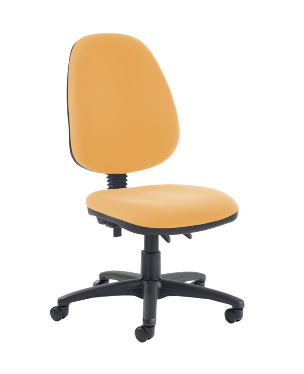 Jota high back PCB operator chair with no arms - Solano Yellow - Furniture