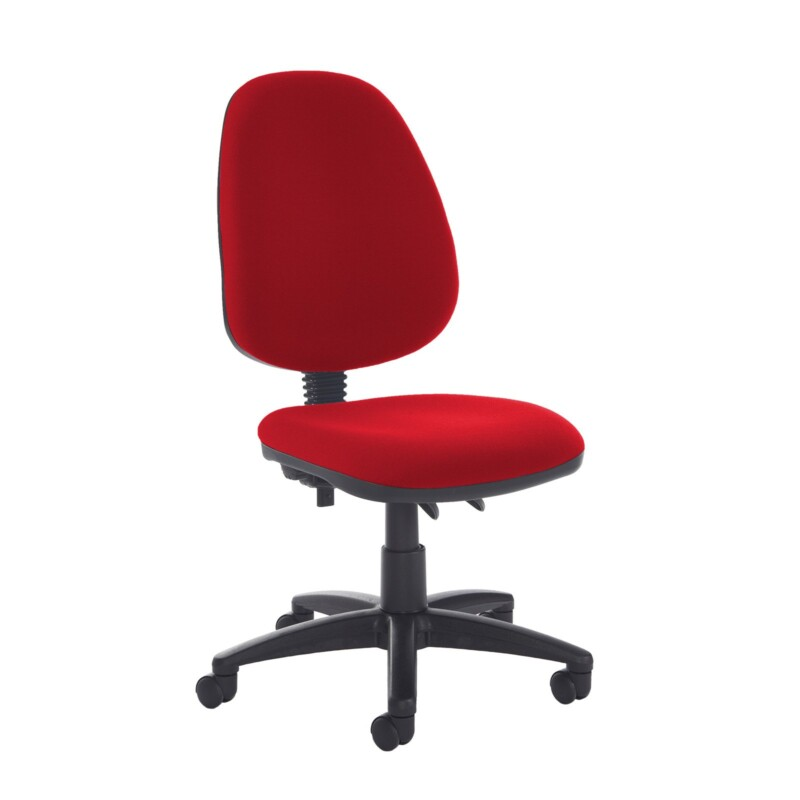 Jota high back PCB operator chair with no arms - Panama Red - Furniture