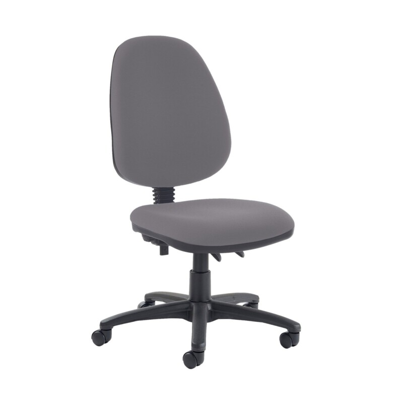 Jota high back PCB operator chair with no arms - Blizzard Grey - Furniture