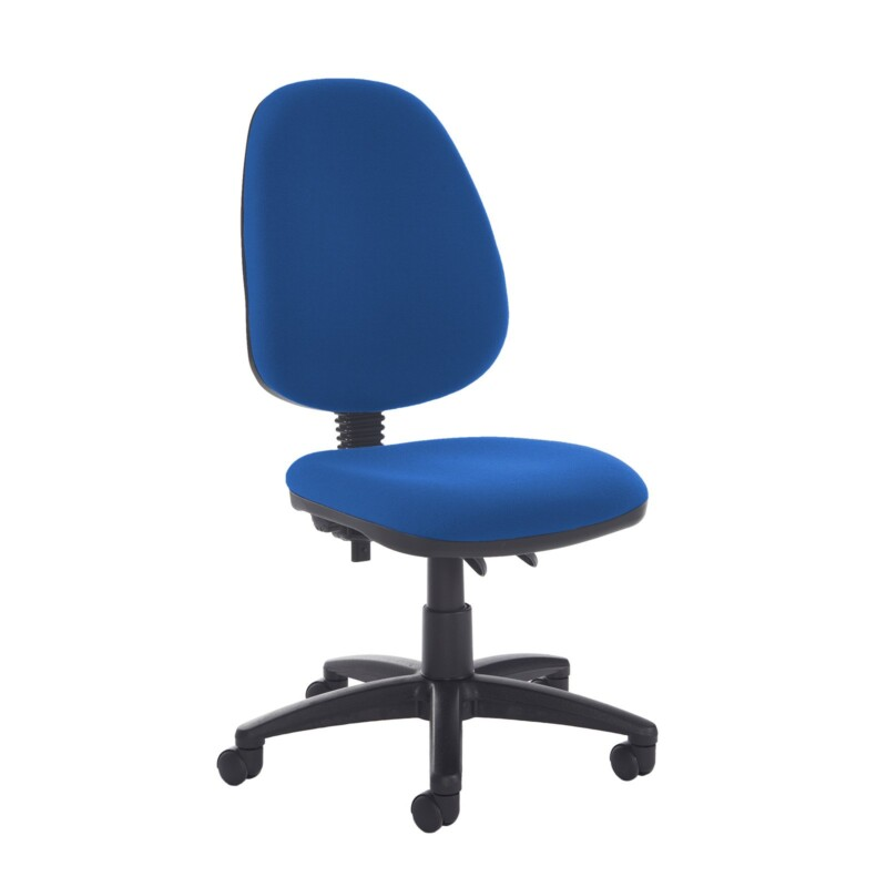 Jota high back PCB operator chair with no arms - Scuba Blue - Furniture