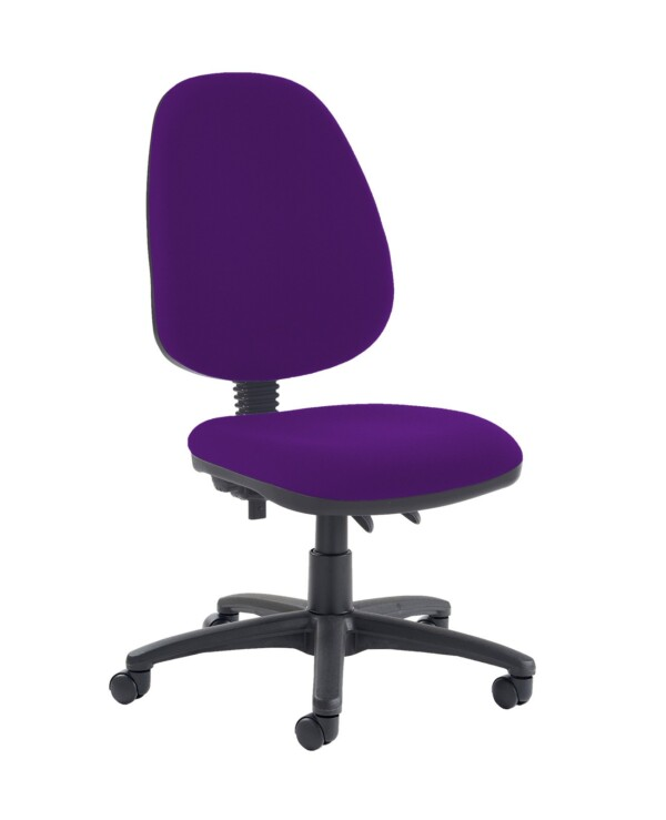 Jota high back PCB operator chair with no arms - Tarot Purple - Furniture