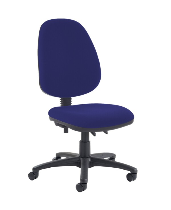 Jota high back PCB operator chair with no arms - Ocean Blue - Furniture