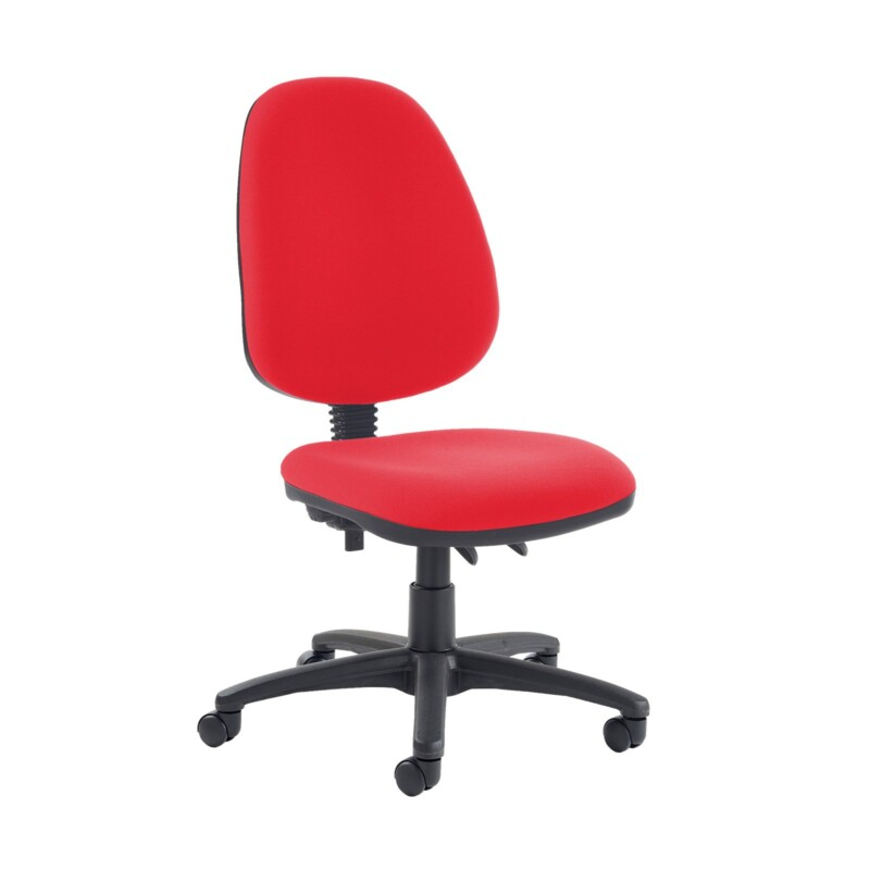 Jota high back PCB operator chair with no arms - Belize Red - Furniture