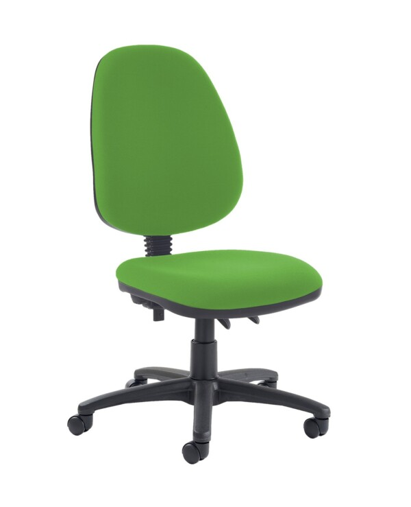 Jota high back PCB operator chair with no arms - Lombok Green - Furniture