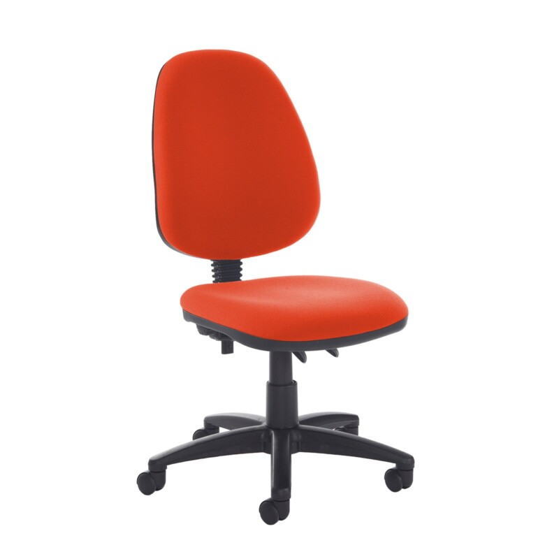 Jota high back PCB operator chair with no arms - Tortuga Orange - Furniture