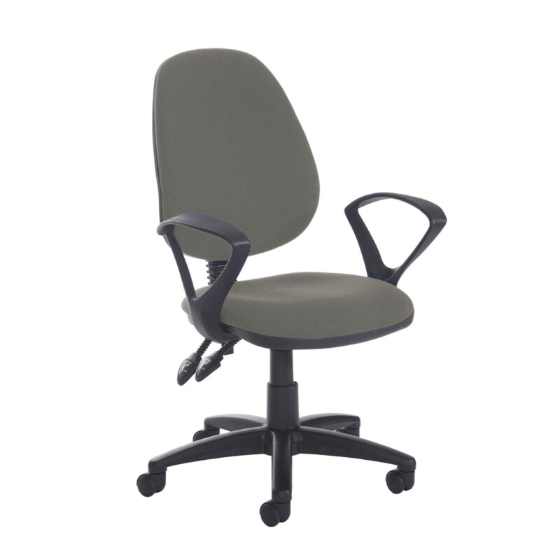 Jota high back PCB operator chair with fixed arms - Slip Grey - Furniture