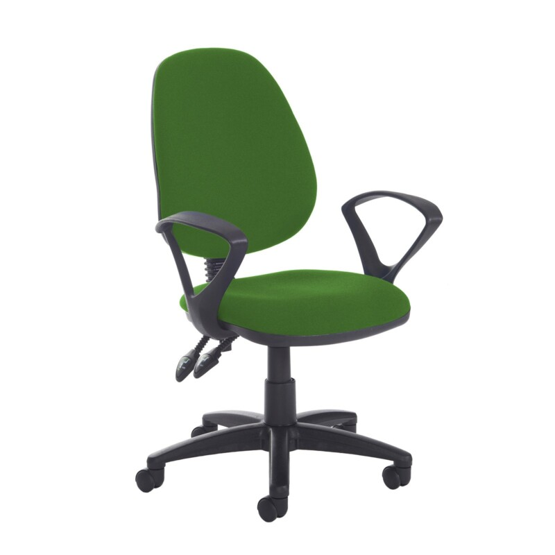 Jota high back PCB operator chair with fixed arms - Lombok Green - Furniture