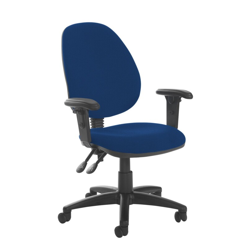 Jota high back PCB operator chair with adjustable arms - Curacao Blue - Furniture