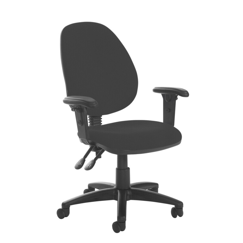 Jota high back PCB operator chair with adjustable arms - Havana Black - Furniture