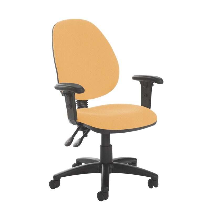 Jota high back PCB operator chair with adjustable arms - Solano Yellow - Furniture