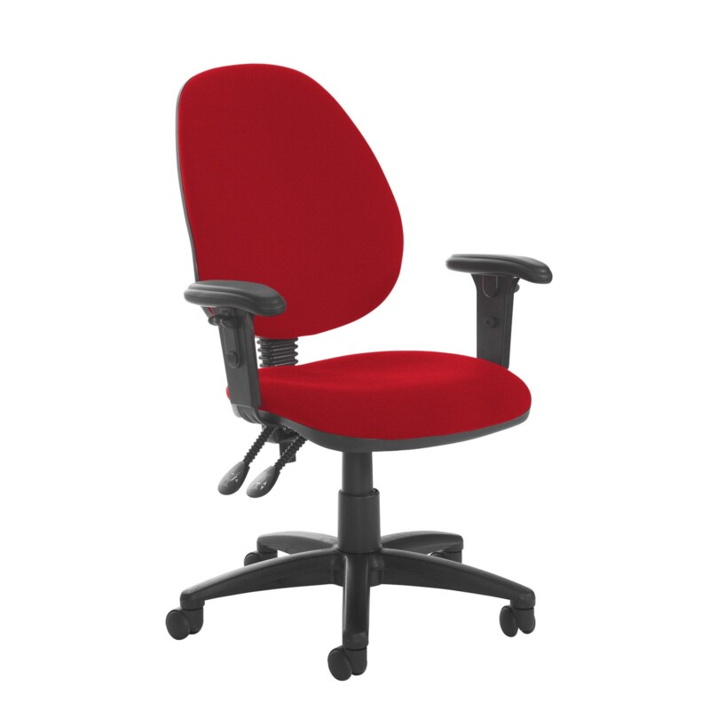 Jota high back PCB operator chair with adjustable arms - Panama Red - Furniture