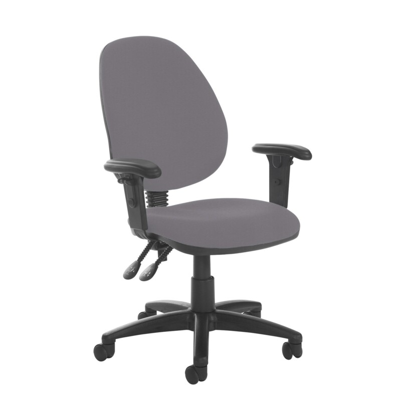 Jota high back PCB operator chair with adjustable arms - Blizzard Grey - Furniture