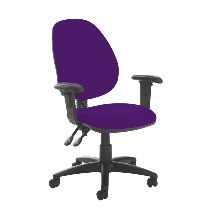 Jota high back PCB operator chair with adjustable arms - Tarot Purple - Furniture