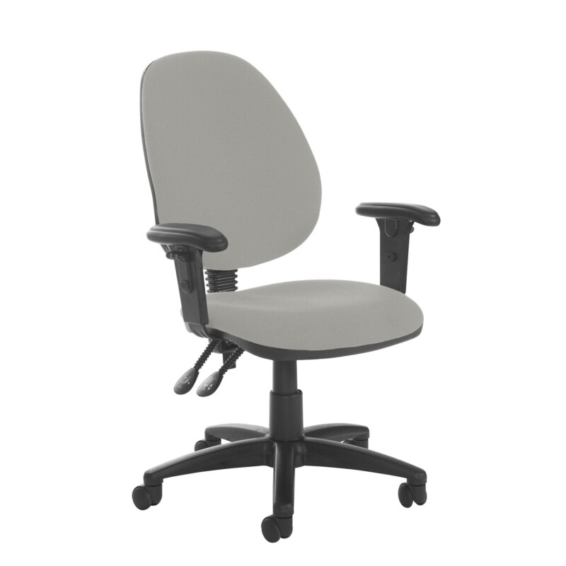 Jota high back PCB operator chair with adjustable arms - Slip Grey - Furniture
