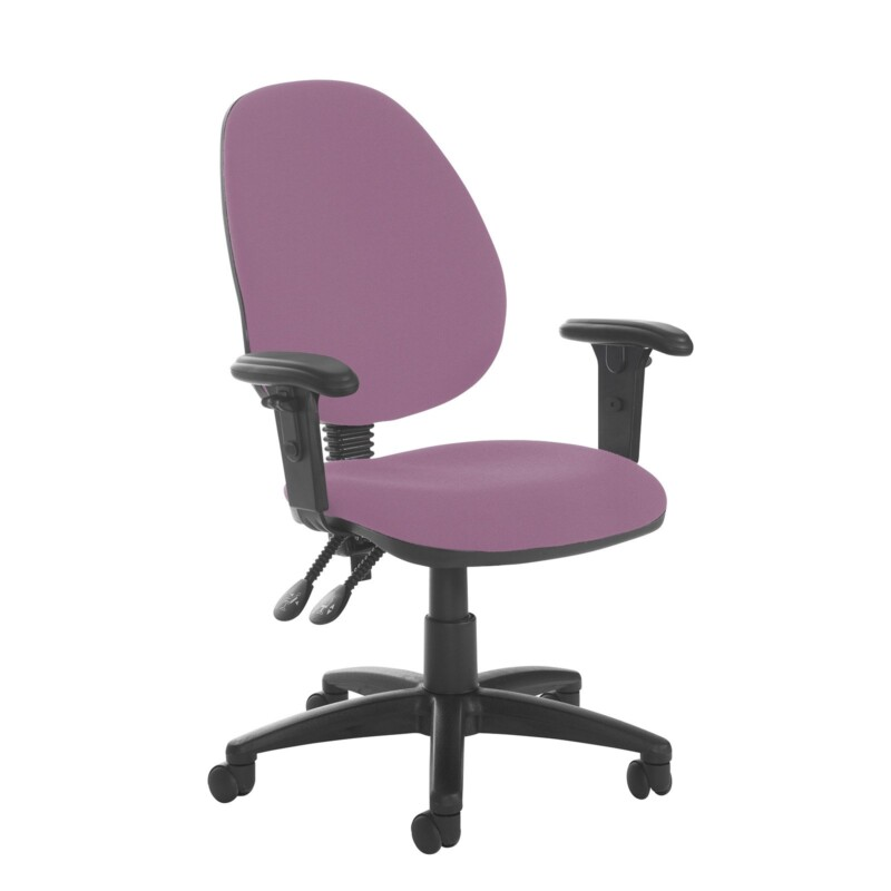 Jota high back PCB operator chair with adjustable arms - Bridgetown Purple - Furniture