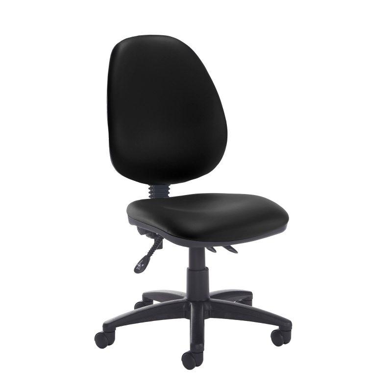 Jota high back asynchro operators chair with no arms - Nero Black vinyl - Furniture