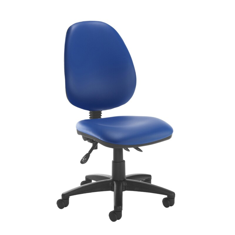 Jota high back asynchro operators chair with no arms - Ocean Blue vinyl - Furniture