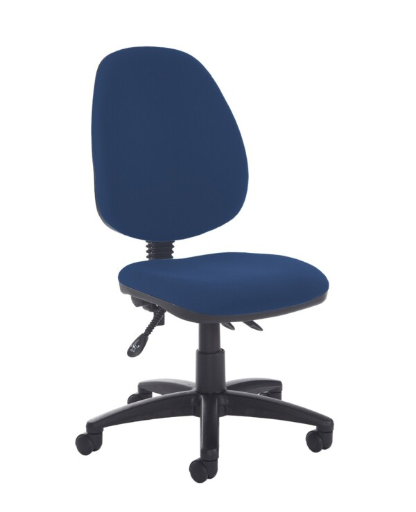 Jota high back asynchro operators chair with no arms - Costa Blue - Furniture