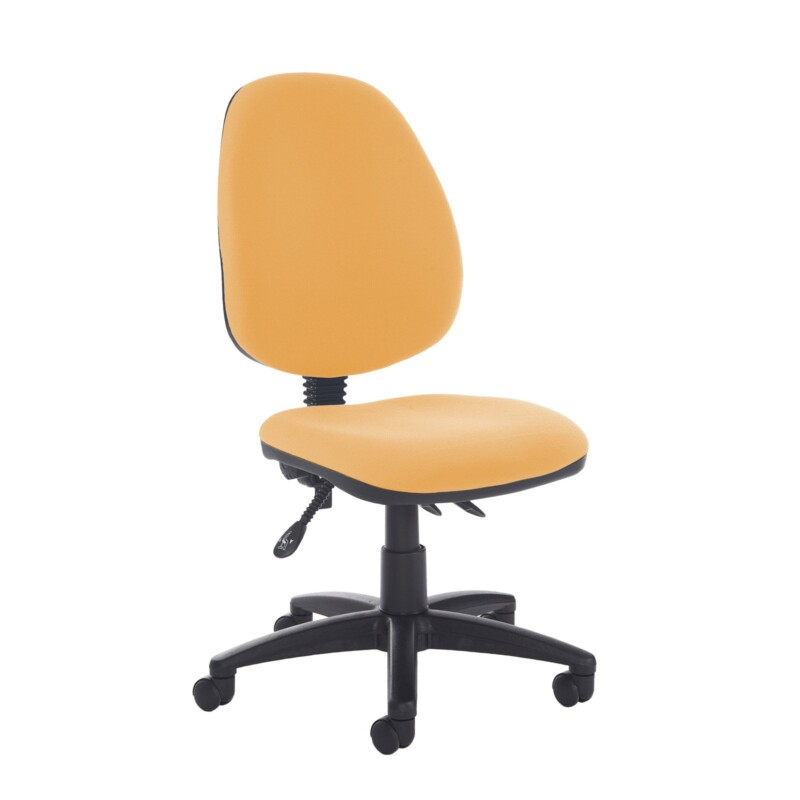 Jota high back asynchro operators chair with no arms - Solano Yellow - Furniture