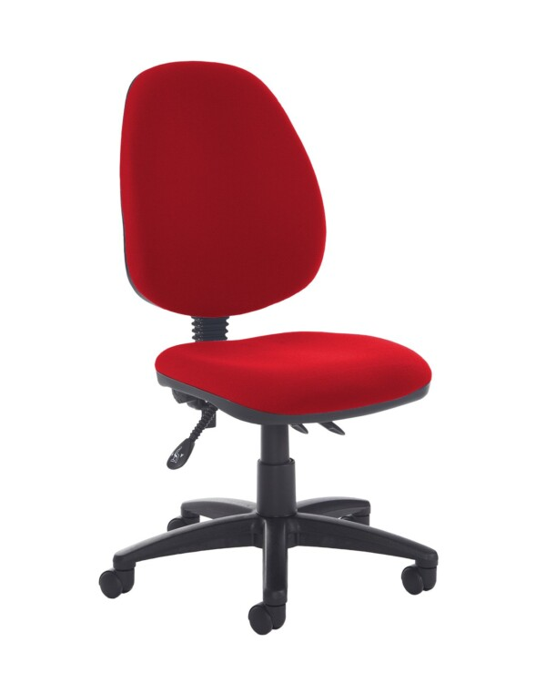 Jota high back asynchro operators chair with no arms - Panama Red - Furniture