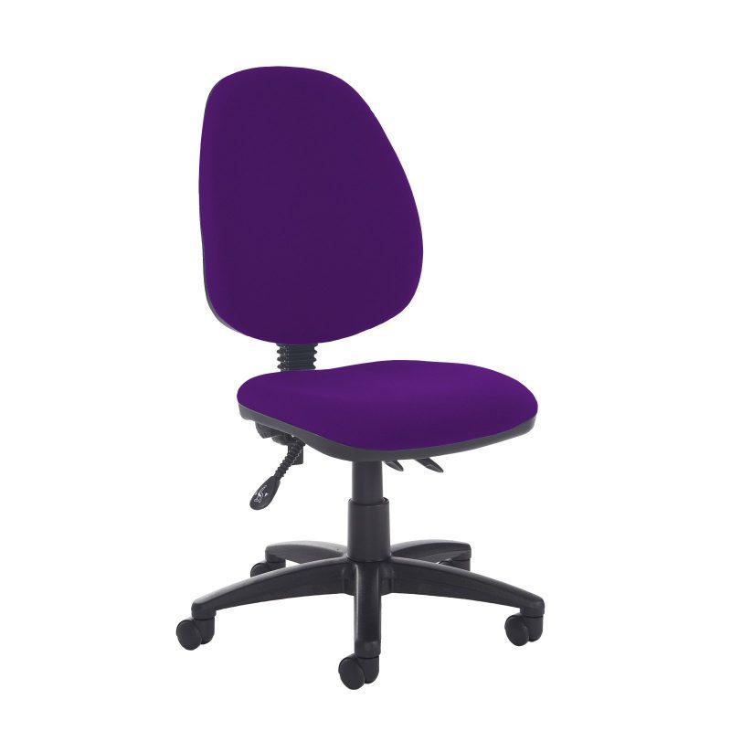 Jota high back asynchro operators chair with no arms - Tarot Purple - Furniture