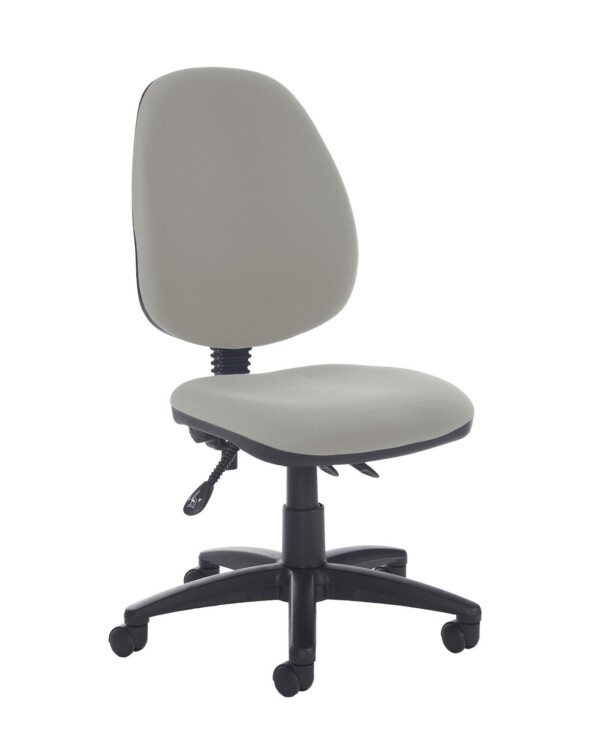 Jota high back asynchro operators chair with no arms - Slip Grey - Furniture