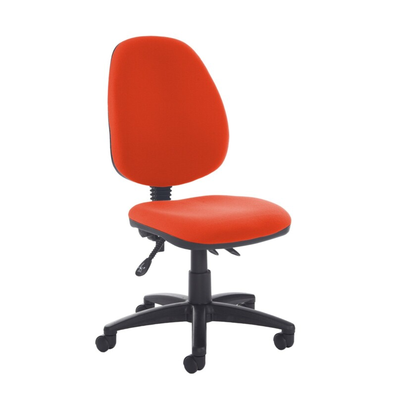 Jota high back asynchro operators chair with no arms - Tortuga Orange - Furniture