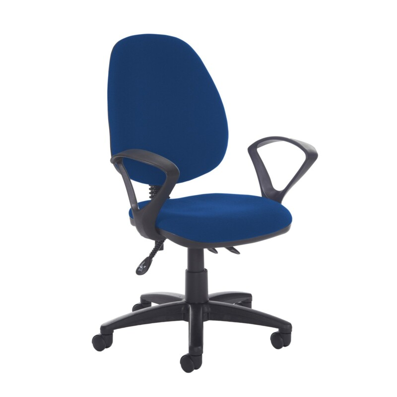 Jota high back asynchro operators chair with fixed arms - Curacao Blue - Furniture