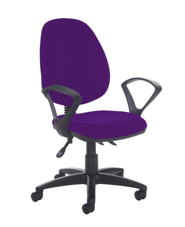 Jota high back asynchro operators chair with fixed arms - Tarot Purple - Furniture