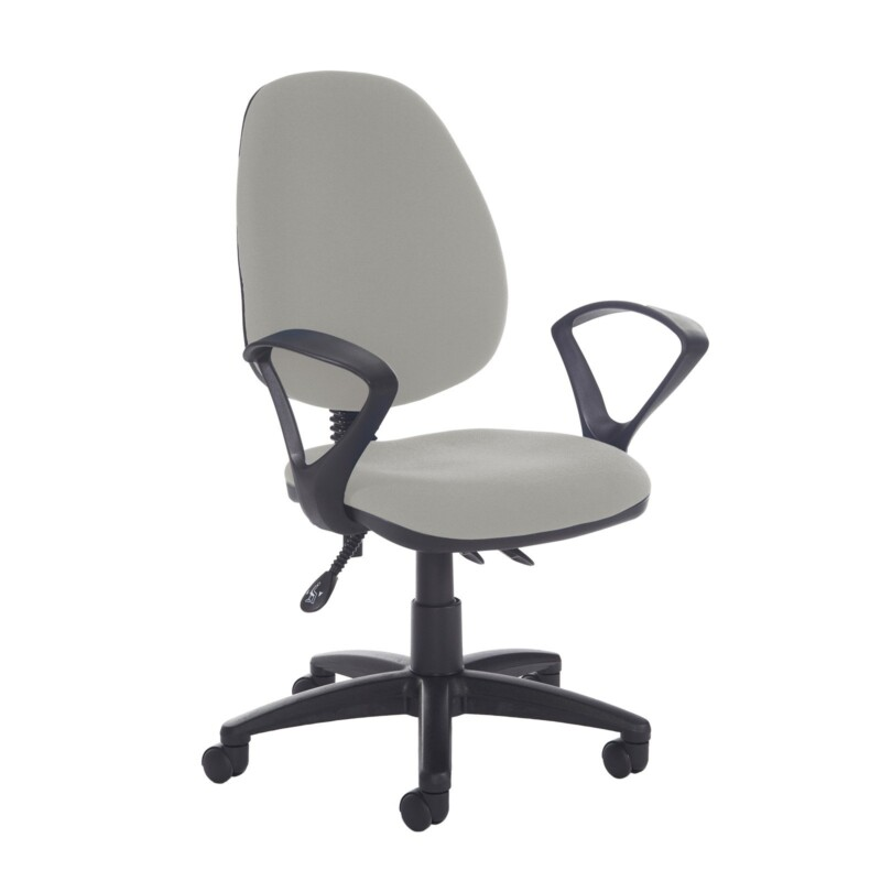 Jota high back asynchro operators chair with fixed arms - Slip Grey - Furniture