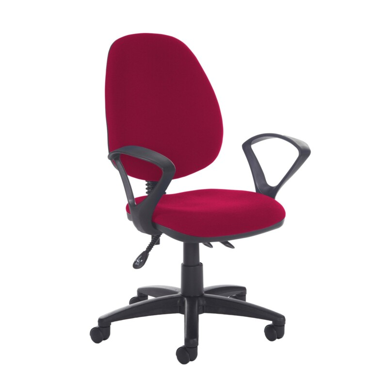 Jota high back asynchro operators chair with fixed arms - Diablo Pink - Furniture