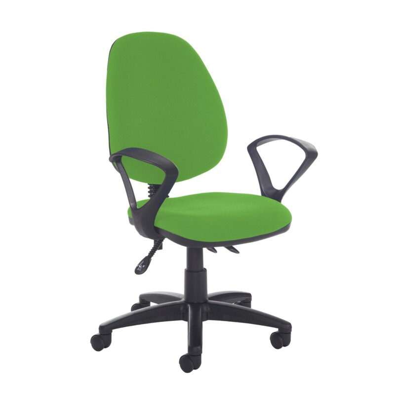 Jota high back asynchro operators chair with fixed arms - Lombok Green - Furniture