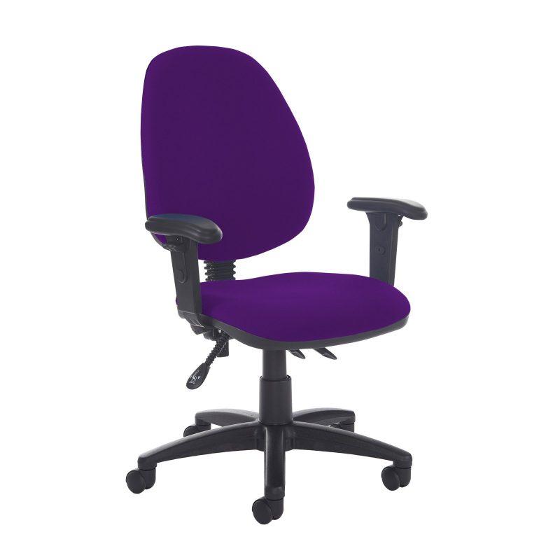 Jota high back asynchro operators chair with adjustable arms - Tarot Purple - Furniture