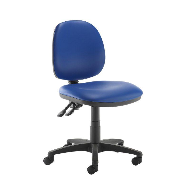 Jota medium back PCB operators chair with no arms - Ocean Blue vinyl - Furniture