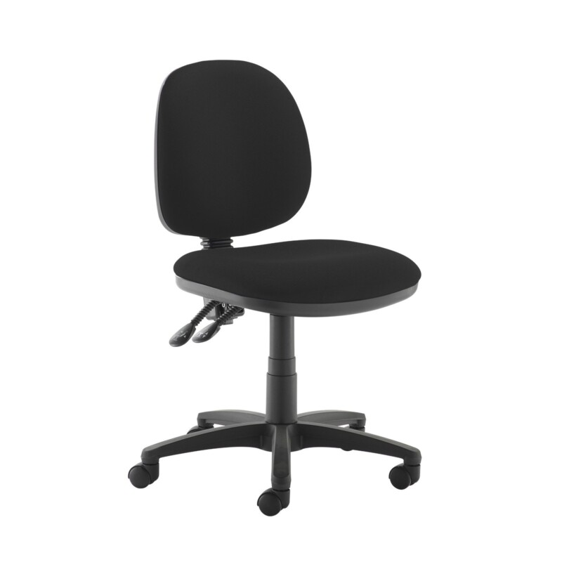 Jota medium back PCB operators chair with no arms - Havana Black - Furniture