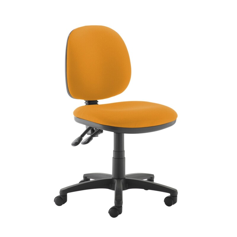 Jota medium back PCB operators chair with no arms - Solano Yellow - Furniture