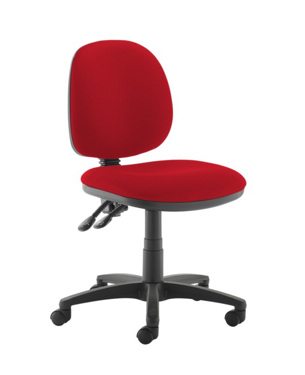 Jota medium back PCB operators chair with no arms - Panama Red - Furniture