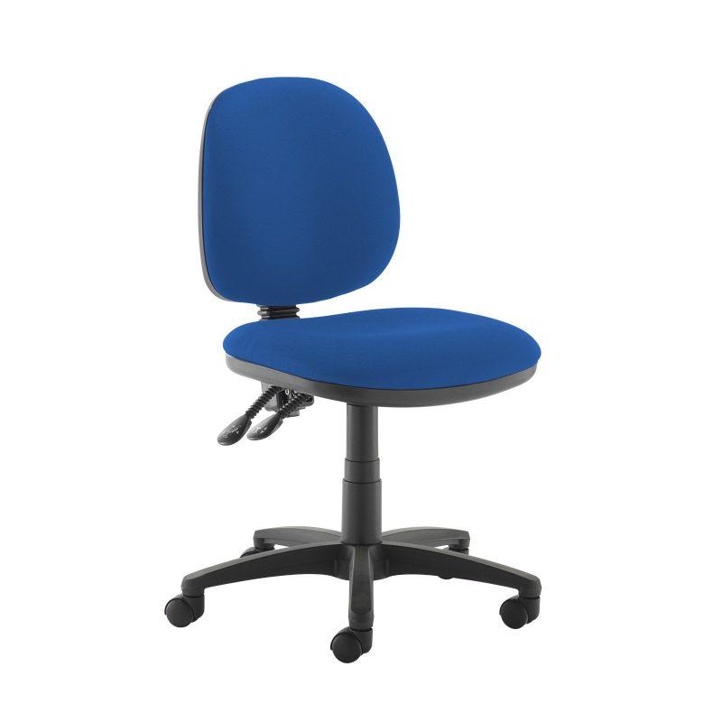 Jota medium back PCB operators chair with no arms - Scuba Blue - Furniture