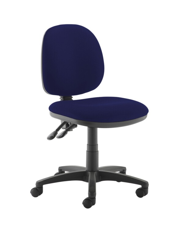 Jota medium back PCB operators chair with no arms - Ocean Blue - Furniture