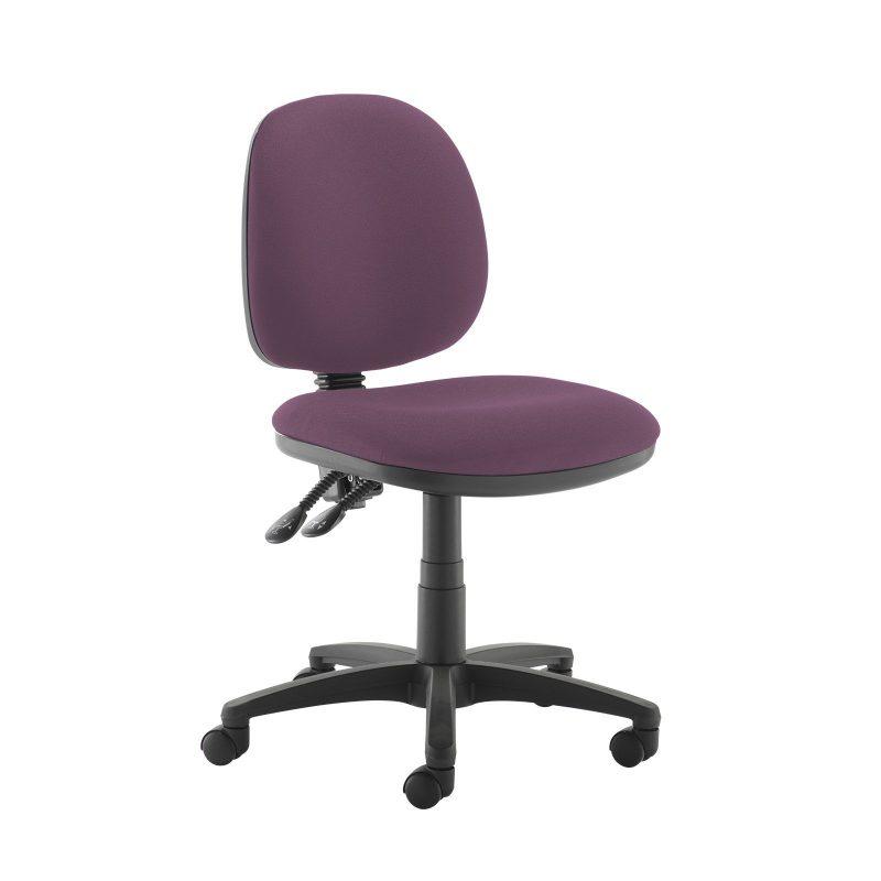 Jota medium back PCB operators chair with no arms - Bridgetown Purple - Furniture