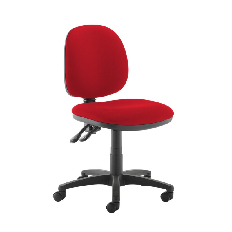 Jota medium back PCB operators chair with no arms - Belize Red - Furniture