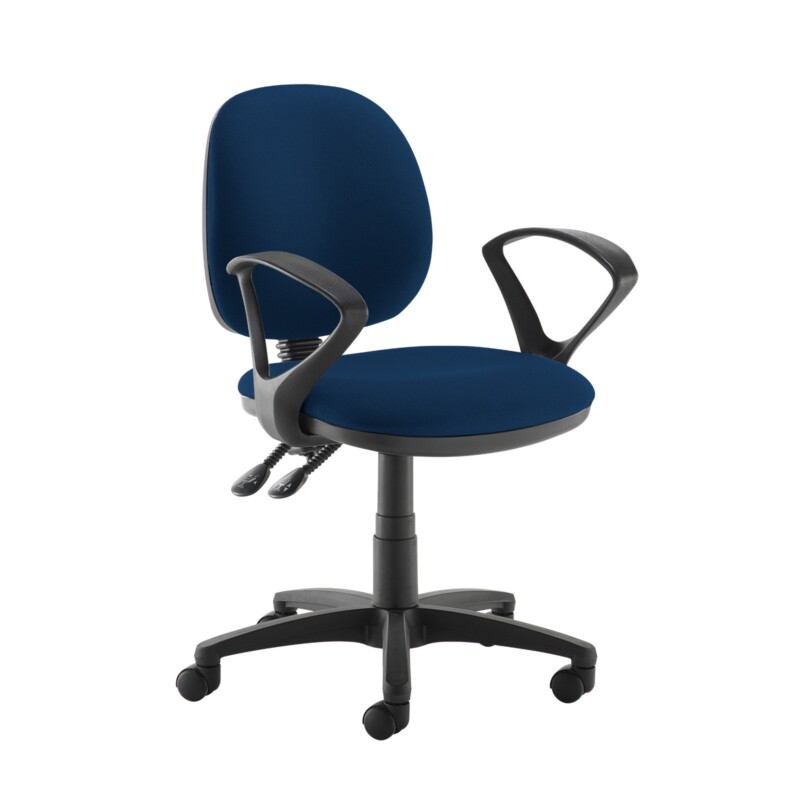 Jota medium back PCB operators chair with fixed arms - Costa Blue - Furniture