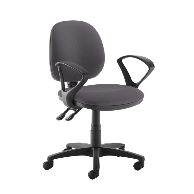 Jota medium back PCB operators chair with fixed arms - Blizzard Grey - Furniture